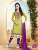 Pure Cotton Delight :atisundar Superb   in Pista Green - 5633 - atisundar - 2 - click to zoom