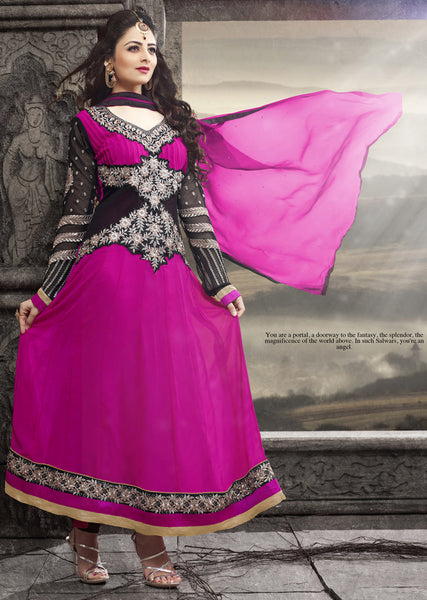 Elegant Collection For Special Occasion:atisundar lovely   in Pink And Black - 5183 - atisundar - 3 - click to zoom