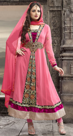 Elegant Collection For Special Occasion:atisundar charming   in Peach - 5185 - atisundar - 1 - click to zoom