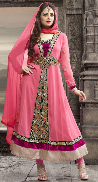 Elegant Collection For Special Occasion:atisundar charming   in Peach - 5185 - atisundar - 3 - click to zoom