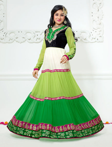 Jodha-Sonal:Alluring Embroidered Anarkali Green Semi stitched Salwar Kameez By atisundar - 4210 - atisundar - 2 - click to zoom