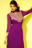Designer Tops:atisundar charming Faux Georgette Designer Tops in Purple - 8420 - click to zoom