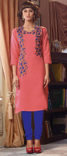 Designer Tops:atisundar graceful Poly Linen Designer Tops in Dusty Pink - 9170 - atisundar - 2 - click to zoom