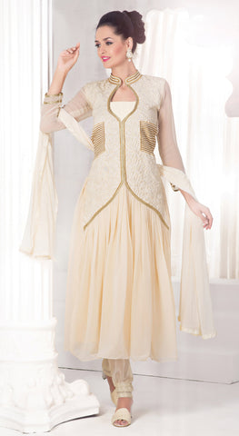 Designer Anarkali:atisundar Superb Off White Anarkali - 8478 - atisundar - 2 - click to zoom