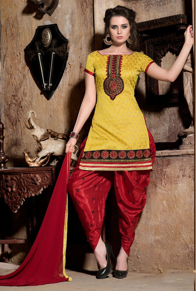 Designer Patiala Suit:atisundar splendid Yellow Designer Patiala Suits - 8247 - atisundar - 2 - click to zoom