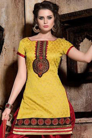 Designer Patiala Suit:atisundar splendid Yellow Designer Patiala Suits - 8247