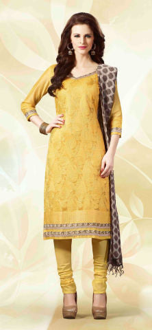 Designer Straight Cut!:atisundar superb Yellow Designer Straight Cut  - 8185 - atisundar - 1 - click to zoom