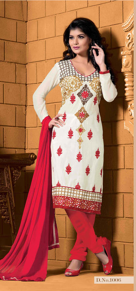 Designer Embroidered Cotton Lawn Suits:atisundar Superb   in White - 5728 - atisundar - 3 - click to zoom