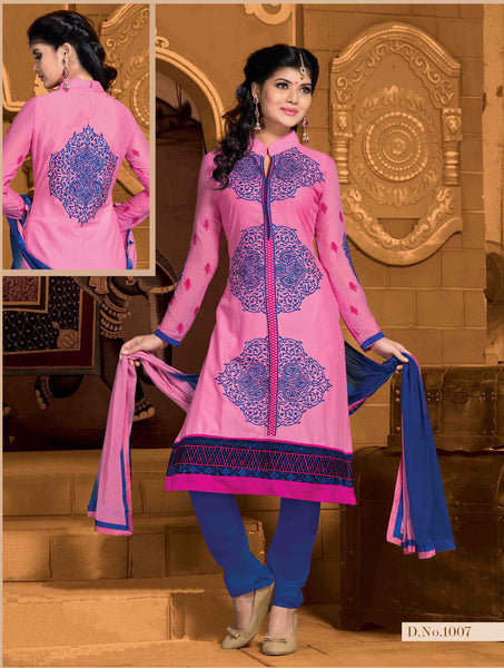 Designer Embroidered Cotton Lawn Suits:atisundar refined   in Pink - 5729 - atisundar - 3 - click to zoom