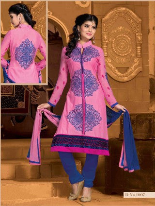 Designer Embroidered Cotton Lawn Suits:atisundar refined   in Pink - 5729 - atisundar - 1 - click to zoom