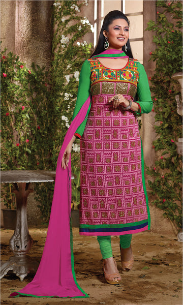 The Divyanka Tripathi Collection:atisundar stunning Pink Designer Straight Cut  - 6822 - atisundar - 2 - click to zoom
