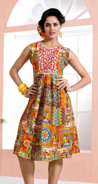 Designer tops:atisundar beauteous Rayon Designer Printed Tops in Multi - 6917 - atisundar - 2 - click to zoom
