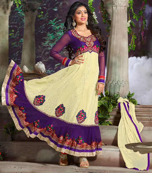 Shriya:atisundar splendid   in Purple And Cream - 4959 - atisundar - 2 - click to zoom