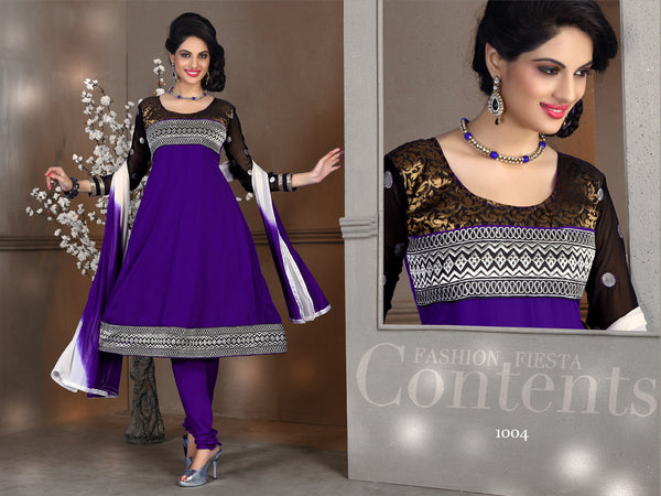 atisundar Tulika: Great Unstitched Salwar Kameez In Purple - 4094 - atisundar - 3 - click to zoom