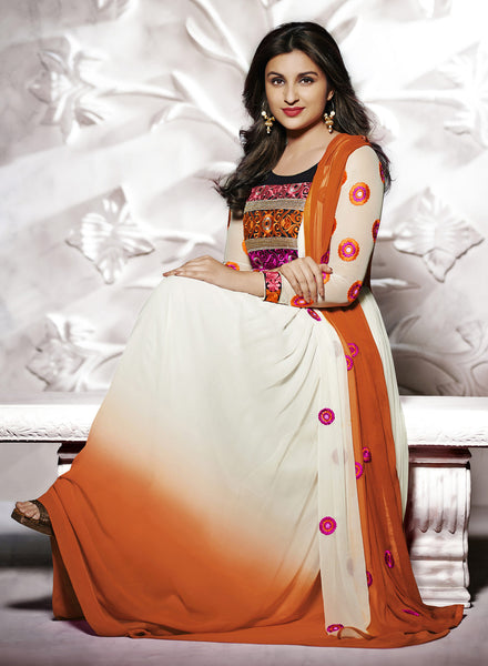Parineeti Chopra Collection:atisundar radiant   in Offwhite And Orange - 4811 - atisundar - 2 - click to zoom
