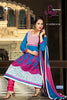 Kohinoor:Wonderful Designer Embroidered Anarkali Sky And Pink Semi stitched Salwar Kameez By atisundar - 4401 - atisundar - 2 - click to zoom