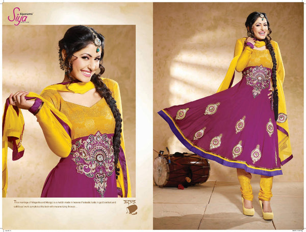Siya Jayita: Beautiful Unstitched Salwar Kameez In Pink - 4125 - atisundar - 4 - click to zoom