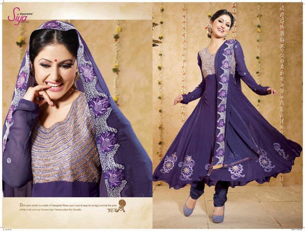 Siya Shilavati: Magnificent Unstitched Salwar Kameez In Purple - 4134 - atisundar - 3 - click to zoom