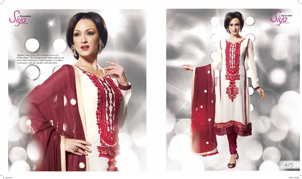 Siya Ipsa: Angelic Unstitched Embroidered Anarkali Salwar Kameez - 4105 - atisundar - 3 - click to zoom