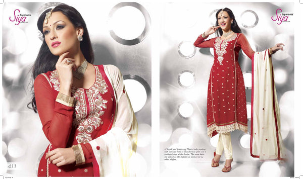 Siya Vinutha: Marvelous Unstitched Embroidered Anarkali Salwar Kameez - 4111 - atisundar - 3 - click to zoom