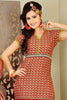 Siya Ayesha:atisundar Yaalisai: Delicate Unstitched Salwar Kameez In Orange - 4369 - click to zoom
