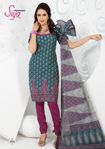 Siya Maharani:Beauteous Designer Cotton Printed Salwar Suit Green Unstitched Salwar Kameez By atisundar - 4297 - atisundar - 3 - click to zoom