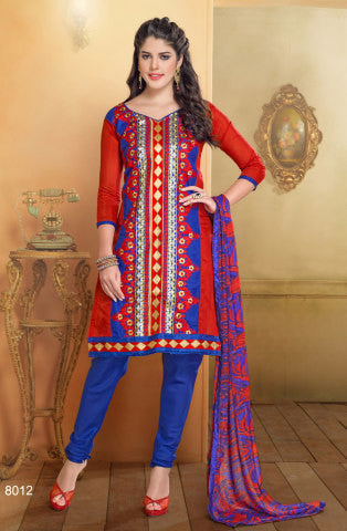 Chanderi Cotton Suits:atisundar gorgeous   in Red - 5688 - atisundar - 1 - click to zoom
