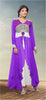 Designer Gowns!:atisundar gorgeous Faux Georgette Designer Partywear Gowns in Purple - 6842 - atisundar - 3 - click to zoom