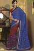 Rajguru Radiance:atisundar   Charismatic Designer Embroidery Saree in Blue  - 4626 - atisundar - 1 - click to zoom