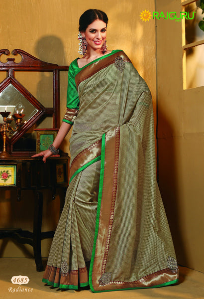 Rajguru Radiance:atisundar   marvelous Designer Embroidery Saree in Golden  - 4641 - atisundar - 2 - click to zoom