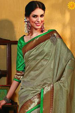 Rajguru Radiance:atisundar   marvelous Designer Embroidery Saree in Golden  - 4641