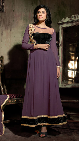 Designer Embroidered Suit:atisundar Superb Purple Designer Embroidered Suits - 8366 - atisundar - 2 - click to zoom