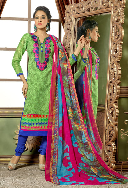 Designer Straight Cut:atisundar Alluring Green Designer Straight Cut  - 8323 - click to zoom