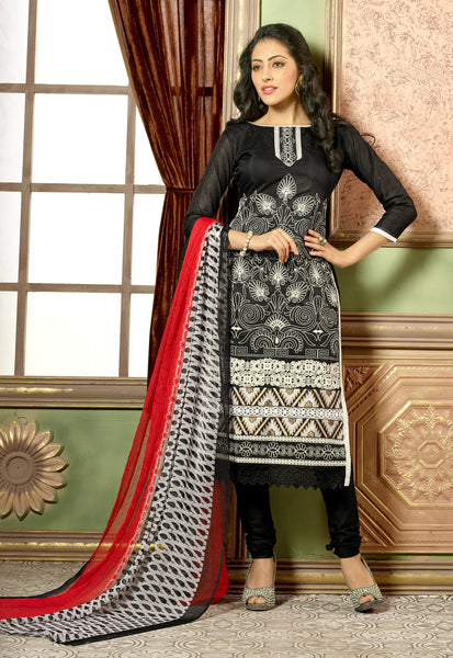 Designer Straight Cut:atisundar Smart Black Designer Straight Cut  - 8324 - atisundar - 2 - click to zoom