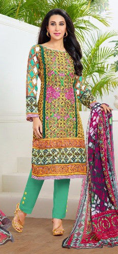Designer Straight Cut:atisundar stunning Multi Designer Straight Cut  - 9294 - click to zoom