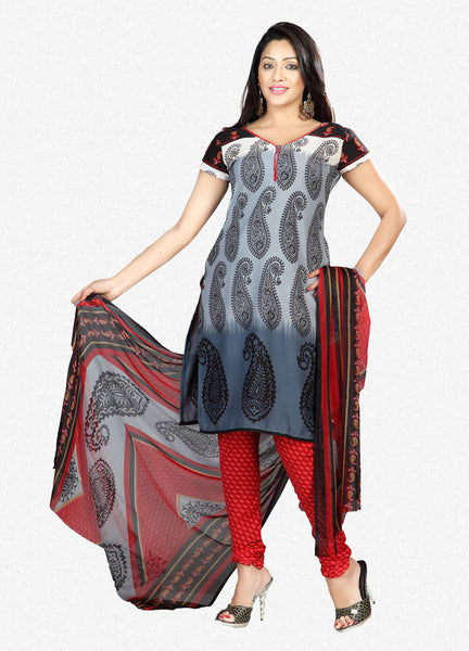 Printed Suits:atisundar gorgeous Grey Designer Printed Unstitched Suits - 6953 - atisundar - 1 - click to zoom