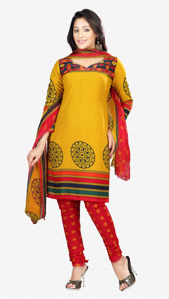 Printed Suits:atisundar beauteous Yellow Designer Printed Unstitched Suits - 6956 - atisundar - 1 - click to zoom