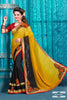 Designer Partywear Saree!:atisundar wonderful Designer Party Wear Sarees in Yellow And Black  - 7599 - atisundar - 2 - click to zoom