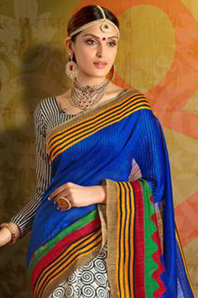 Designer Printed Saree:atisundar magnificent Designer Printed Saree in Multi Colour  - 7671 - click to zoom