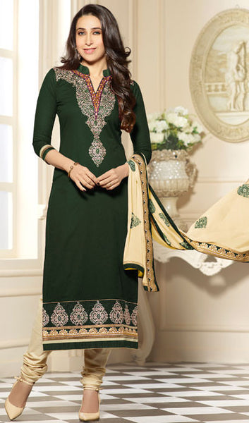 The Karishma Kapoor Collection:atisundar graceful Green Designer Embroidered Suits - 9851 - atisundar - 1 - click to zoom