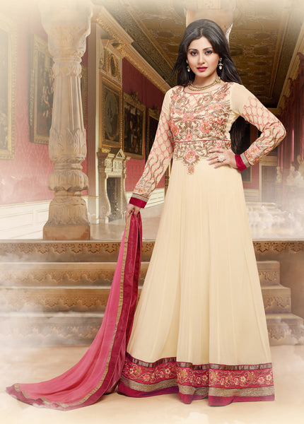 The Rimisen Collection:atisundar Charismatic Off White Designer Embroidered Party Wear Ready to Stitch Anarkali - 6407 - atisundar - 2 - click to zoom