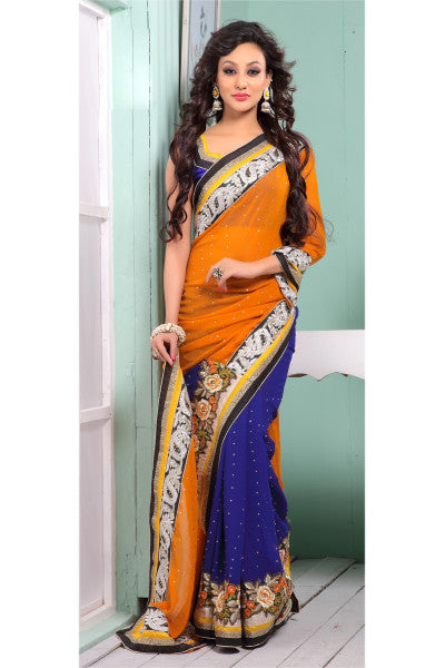 Designer Saree:atisundar Awesome Designer Party Wear Saree  - 6798 - click to zoom