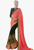 Designer Saree:atisundar Attractive Party wear Sarees with designer blouses and embroidered border in Pink And Black  - 10763 - atisundar - 1 - click to zoom