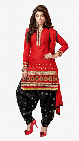 Designer Patiala Suit:atisundar charming Red Designer Patiala Suits - 7095 - atisundar - 2 - click to zoom