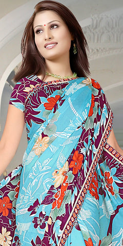 Admirable Sofia Saree In Light Blue - atisundar - 4