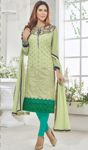 Designer Suit:atisundar exquisite Pista Green Designer Embroidered Suit - 10237 - atisundar - 1 - click to zoom