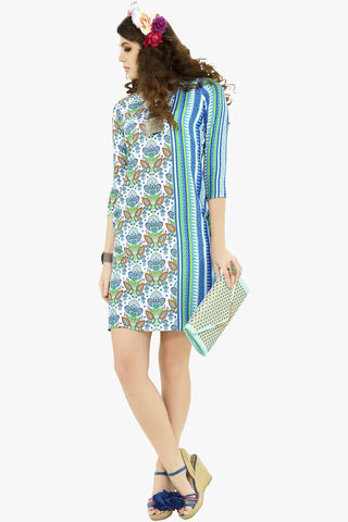 Designer Tops:atisundar Superb Cotton Designer Printed Tops in Aqua And Blue - 10804 - atisundar - 1 - click to zoom