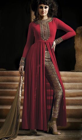 Designer Anarkali:atisundar Awesome Red Anarkali - 9412 - atisundar - 2