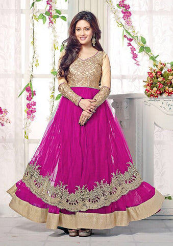 The Riya Sen Collection:atisundar beauteous Dark Pink Anarkali - 7859 - atisundar - 2