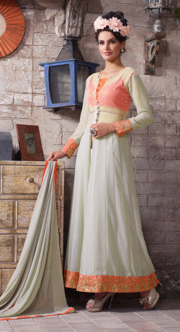 Designer Embroidered Suit:atisundar angelic Gray Designer Embroidered Suits - 8412 - atisundar - 1 - click to zoom
